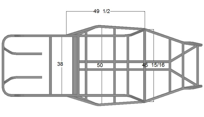 Coal Cracker - Top View Dimensions