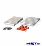 MST - POLISHED - ALUMINUM PUSH ROD TUBES - SET OF 8
