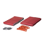 MST - RED - ALUMINUM PUSH ROD TUBES - SET OF 8
