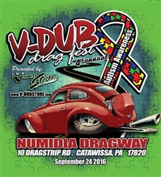 V-DUB DRAG FEST 2016 T-SHIRT - SELECT SIZE & COLOR