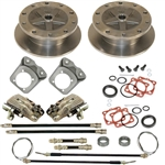 EMPI 22-2928-F - WIDE REAR DISC BRAKE KIT W/ E-BRAKE & HD BRACKETS - 5/205 - SWING AXLE 58-67