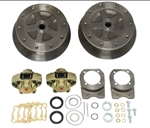 EMPI 22-2930-F - WIDE REAR DISC BRAKE KIT W/ E-BRAKE & HD BRACKETS - 5/205 - SWING AXLE 58-67