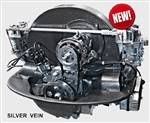 EMPI 8944-S - SILVER VEIN POWDER COATED - REAR ENGINE - NO HEAT NO RISERS