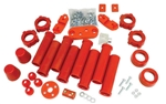 BUG PACK B222001 - URETHANE TOTAL SUSPENION REBUILD KIT, VOLKSWAGEN, TYPE 1, 1959-1965, RED