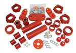 BUG PACK B222002 - URETHANE TOTAL SUSPENION REBUILD KIT, VOLKSWAGEN, TYPE 1, 66-72, RED