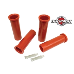 B652711 - URETHANE BUS BEAM BUSHING KIT, 64-67, (4), RED
