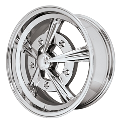 "EMPI 10-1091 - RAIDER - All Chrome - ET 40 - BS 5 1/2"" - 60* SEAT - 5X205 - 17X7"""