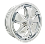 "EMPI 10-1103 - 911 ALLOY RIM - Polished - ET 35 - BS 4 7/8"" - BALL SEAT - 5X130 - 15X6"""