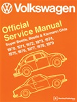 VW BENTLEY MANUAL - SUPER BEETLE, BETTLE & KARMANN GHIA 1970-1979 - HARD COVER