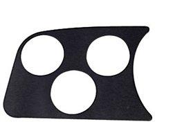EMPI 14-1001 - 3 GAUGE HOLE PANEL, BLACK
