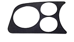 EMPI 14-1003 - 2 GAUGE/ 1 TACH HOLE PANEL, BLACK