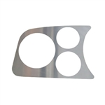 EMPI 14-1004 - 2 GAUGE/1 TACH HOLE PANEL, CHROME