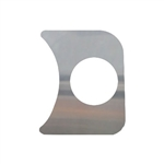 EMPI 14-1006 - 1 GAUGE HOLE PANEL, CHROME