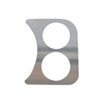 EMPI 14-1008 - 2 GAUGE HOLE PANEL, CHROME