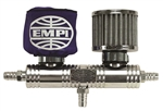 EMPI 16-2049 - BILLET BREATHER TUBE WITH BLUE FILTER COVERS