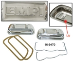 EMPI 16-9470 - EMPI STAINLESS VALVE COVER W/ BALES - PAIR - INCLUDES CHROME BALES