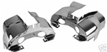 Off-Road Dual Port Shrouds - Chrome - Pair
