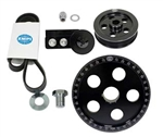 EMPI 17-2911 - BLACK ANODIZED SERPENTINE BELT CRANKSHAFT PULLEY SYSTEM