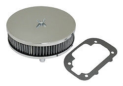 "EMPI 17-2981 - 6 3/8"" LOW PROFILE CHROME AIR CLEANER FOR 47-0628 & 47-0640 & 47-0645 KITS"