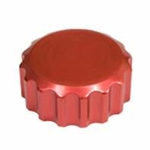 EMPI 18-1079 - BILLET RED ALUMINUM OIL FILLER CAP W/ GROOVES