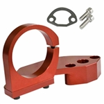 EMPI 18-1090 - BILLET COMBO FUEL PUMP BLOCK-OFF / COIL MOUNT, RED