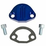 EMPI 18-1092 - BILLET FUEL PUMP BLOCK-OFF W/HARDWARE, BLUE