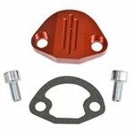 EMPI 18-1093 - BILLET FUEL PUMP BLOCK-OFF W/HARDWARE, RED