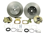 EMPI 22-2861-F - DELUXE HEAVY DUTY REAR DISC BRAKE KIT WITHOUT EMERGENCY BRAKE - 4X130 WITH 1.5MM THREADS - SWING AXLE 1968 ; IRS 1968-1979