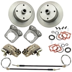 EMPI 22-2870-F - DELUXE Rear Disc Brake Kit w/ E-Brake, 4x130 with 14x1.5mm threads, I.R.S. 68 & later & Swing Axle 68
