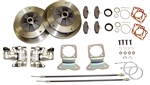 EMPI 22-2905-F - DELUXE ZERO OFF-SET WIDE 5 REAR DISC BRAKE KIT WITH E-BRAKE - SWING AXLE 1958-1967 - WITH HEAVY DUTY CALIPER BRACKETS