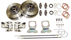 EMPI 22-2907-F - DELUXE ZERO OFF-SET WIDE 5 REAR DISC BRAKE KIT WITH E-BRAKE - IRS 1973 & LATER - WITH HEAVY DUTY CALIPER BRACKETS