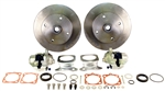 EMPI 22-2910 - REAR DISC BRAKE KIT WITHOUT EMERGENCY BRAKE - ROTORS DOUBLE DRILLED - 5X130 WITH 14X1.5MM THREADS & 5X4.75 WITH 12MM THREADS - SWING AXLE 1958-1967