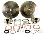 EMPI 22-2910-F - DELUXE HEAVY DUTY REAR DISC BRAKE KIT WITHOUT EMERGENCY BRAKE - ROTORS DOUBLE DRILLED - 5X130 WITH 14X1.5MM THREADS & 5X4.75 WITH 12MM THREADS - SWING AXLE 1958-1967