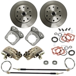 EMPI 22-2913-F DELUXE Rear Disc Brake Kit w/ E-Brake, Double-Drilled 5x130 with 14x1.5mm threads / 5x4.75- with 12mm threads I.R.S. 68 & later & Swing Axle 68