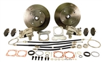 "EMPI 22-2914 - REAR DISC BRAKE KIT WITH E-BRAKE - DOUBLE-DRILLED 5X130 WITH 14X1.5MM THREADS / 5X4.75"" WITH 12MM THREADS - I.R.S. 73-79"