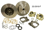 EMPI 22-2916-F - DELUXE HEAVY DUTY REAR DISC BRAKE KIT WITHOUT EMERGENCY BRAKE - ROTORS BLANK - IRS 1968 & LATER ; SWING AXLE 68 ONLY