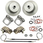 EMPI 22-2919-F - HD BRACKET BLANK ROTOR REAR DISC BRAKE KIT W/ E-BRAKE - IRS 1968^ - SWING AXLE 1968