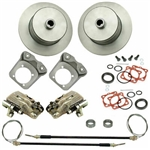 EMPI 22-2920-F - REAR DISC BRAKE KIT WITH E-BRAKE & HD CALIPER BRACKETS - BLANK ROTORS - I.R.S. 73-79