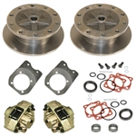 EMPI 22-2929-F - WIDE TRACK W/ HD BRACKETS REAR DISC BRAKE KIT 5X205 WITHOUT E-BRAKE - IRS 1968-1972 - SWING AXLE 1968