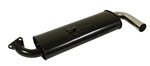 EMPI 3122 - Single Quiet Muffler (Black w/ Chrome Tip) for EMPI Premium Exhaust System, Type 1 (Fits 3100 and 3102 Extractors Only)