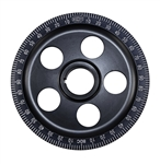 Crankshaft Laser Pulley - Stock Diameter - Stock Installation - Black Anodized