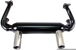 EMPI 3418 - EMPI 2 TIP EXHAUST SYSTEM T1 & GHIA 1300-1600CC 1966-1973 BLACK WITH CHROME TIPS