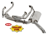 EMPI 3448 - S/S Sideflow Merged Exhaust System w/ Muffler, Type 2, 1963-1967