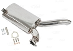 EMPI 3481 - Stainless Steel Sideflow Muffler Only, Type 2 63-67, Fits EMPI P/N 3448 Exhaust System