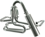 EMPI 3752 - Competition Exhaust - 1 1/2- - Chrome w/ Stainless Steel Off-Road Muffler