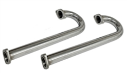 EMPI 3755 - STAINLESS STEEL J-TUBES W/ FLANGES - PAIR