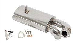 EMPI 3764 - Stainless Steel Sideflow Muffler Only, Type 1 66-73, 1300-1600cc, Fits EMPI P/N 3762 Exhaust System
