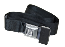 "EMPI 3844 - 2 POINT LAP BELT - UNIVERSAL 72"" - BLACK - EACH"