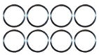 Spiral Piston Pin Retainers - Set of 8