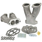 EMPI 43-1034 - GTV-2 STAGE 1 MATCH PORTED TALL MANIFOLDS W/ NOS BOSS FOR HPMX / IDF / DELLORTO CARBURETORS - PAIR